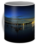 Boating - The Marina At Night Coffee Mug by Paul Ward