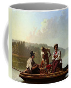 Boatmen On The Missouri Coffee Mug