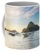 Boats Anchored In Bacuit Bay And Cadlao Coffee Mug