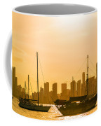 Boats And Skyscrapers Coffee Mug