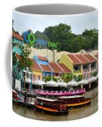 Boats At Clarke Quay Singapore River Coffee Mug