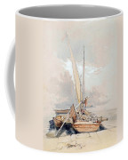 Boats At Quayside Lake Geneva Coffee Mug