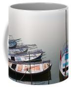Boats At Sangam Coffee Mug