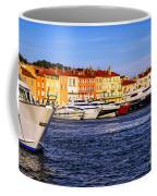 Boats At St.tropez Harbor Coffee Mug