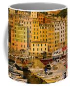 Boats At The Harbor, Camogli, Liguria Coffee Mug
