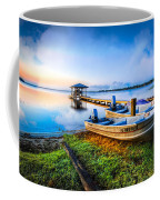 Boats At The Lake Coffee Mug