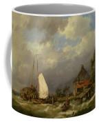 Boats Docking In An Estuary Coffee Mug
