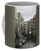 Boats In Canal Amsterdam Coffee Mug