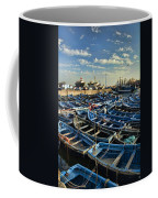 Boats In Essaouira Morocco Harbor Coffee Mug