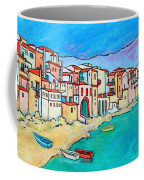 Boats In Front Of Buildings Viii Coffee Mug by Xueling Zou