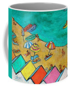 Boats In Front Of The Buildings Ix Coffee Mug