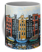 Boats In Front Of The Buildings Vi Coffee Mug