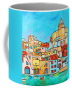 Boats In Front Of The Buildings Vii Coffee Mug