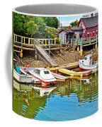 Boats In Halls Harbour-nova Scotia  Coffee Mug