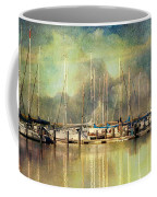 Boats In Harbour Coffee Mug
