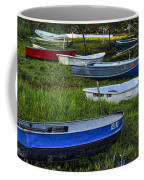 Boats In Marsh - Cape Neddick - Maine Coffee Mug