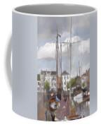 Boats In The Harbor 1905 Coffee Mug