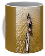 Boats In The Mekong River - Vietnam Coffee Mug