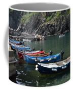 Boats In Vernazza Coffee Mug