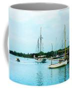 Boats On A Calm Sea Coffee Mug