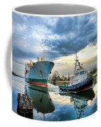 Boats On A Canal Coffee Mug by Olivier Le Queinec