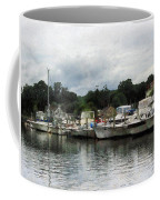 Boats On A Cloudy Day Essex Ct Coffee Mug