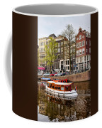 Boats On Canal In Amsterdam Coffee Mug by Artur Bogacki
