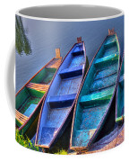 Boats On River Coffee Mug