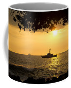 Boats Under The Hawaiian Sunset Coffee Mug