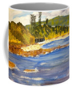 Boatsheds At Sandon Point Coffee Mug