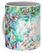 Bob Dylan Watercolor Portrait.1 Coffee Mug