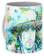 Bob Dylan - Watercolor Portrait.2 Coffee Mug