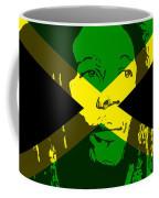 Bob Marley On Jamaican Flag Coffee Mug