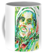 Bob Marley Watercolor Portrait.2 Coffee Mug