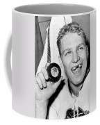 Bobby Hull Scores 50th Goal Coffee Mug by Underwood Archives