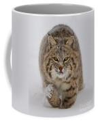 Bobcat Running Forward Coffee Mug by Jerry Fornarotto