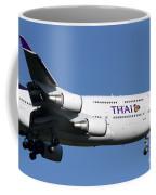 Boeing 747-400 Of Thai International Coffee Mug