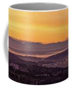Boeing Seatac And Rainier Sunrise Coffee Mug