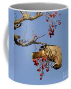 Bohemian Waxwing Eating Rowan Berries Coffee Mug