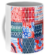 Boho Americana- Patchwork Painting Coffee Mug by Linda Woods