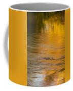 Boise River Autumn Abstract Coffee Mug