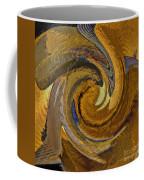 Bold Golden Abstract Coffee Mug