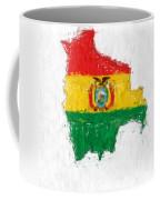 Bolivia Painted Flag Map Coffee Mug