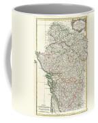Bonne Map Of Poitou Touraine And Anjou France Coffee Mug