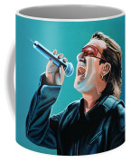 Bono Of U2 Painting Coffee Mug