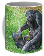 Bonobo Adult Playing With Baby Coffee Mug