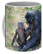 Bonobo Adult Talking To Juvenile Coffee Mug