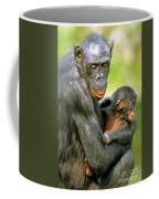 Bonobo Pan Paniscus Mother And Infant Coffee Mug