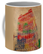 Book Cadillac Iconic Buildings Of Detroit Watercolor On Worn Canvas Series Number 3 Coffee Mug by Design Turnpike
