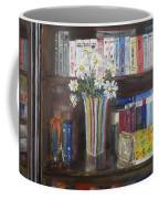 Bookworm Bookshelf Still Life Coffee Mug